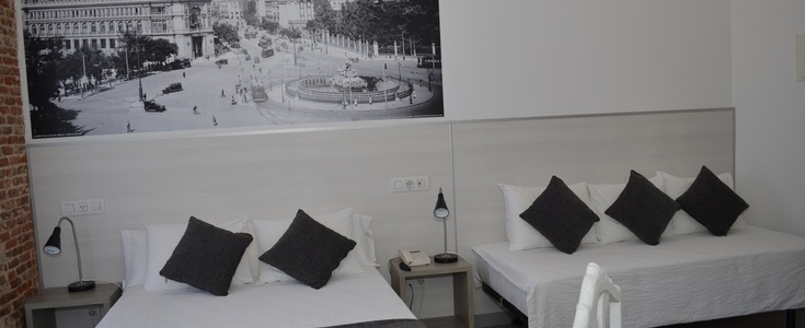 Double + extra bed san lorenzo hotel madrid